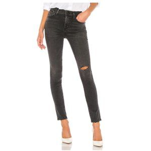 Citizens Rocket Cropped Black High Rise Jeans 28